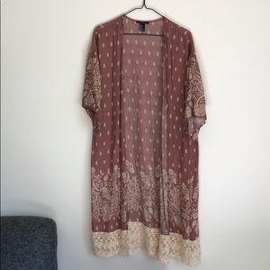Muave Kimono